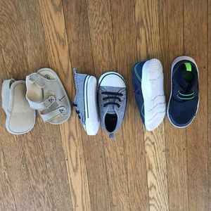 3 Pairs of Never Worn Baby Boy Shoes